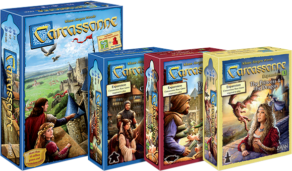 Image result for carcassonne with expansions""